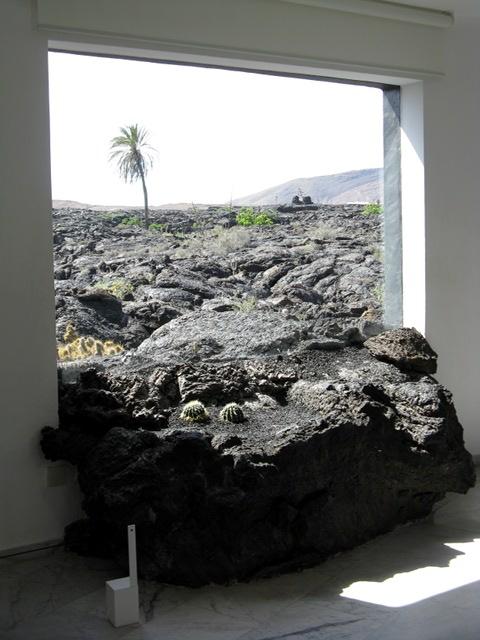 Lava im Haus von Cesar Manrique