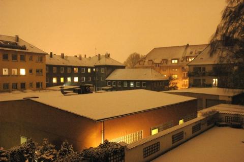 Essen-West, verschneit