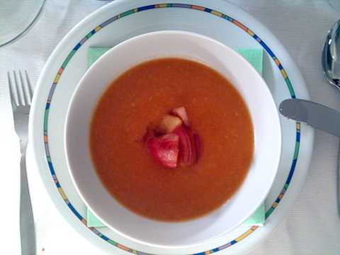 Tomaten-Nektarinen-Suppe