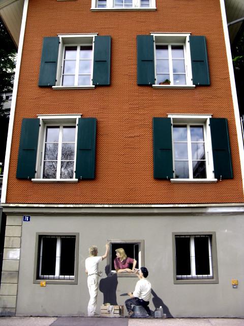 Haus in Bern mit Malerei